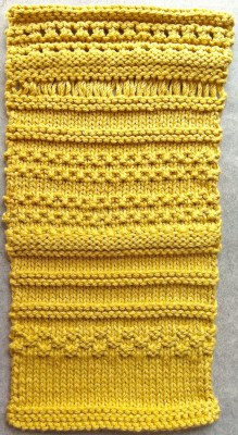Finished homework swatch.