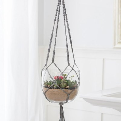 Macramé Plant Hanger for Red Heart