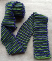 Single-Row Stripes Super-Long Scarf