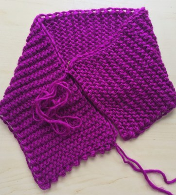 Fold and sew the scarflette