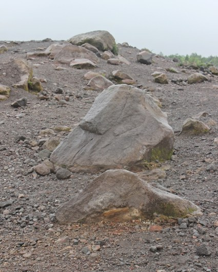 Million meter cubics stone from eruptions