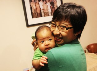 My eldest daughter with her son (2012)