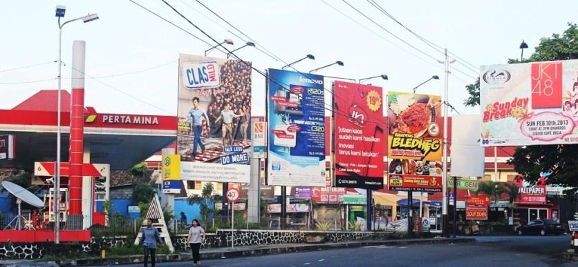 - Street advertising billboard, Jogjakarta -