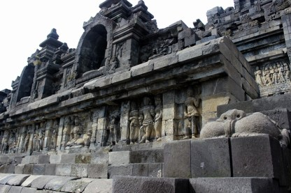 Another design of wall relief, Borobudur Temple