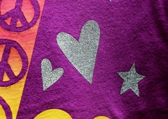 Purple Silver Kids fashion design