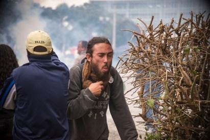 Prefeitura atende feridos em manifestação de servidores no Centro Cívico. Curitiba, 29/04/2015 Foto: Gabriel Rosa/SMCS