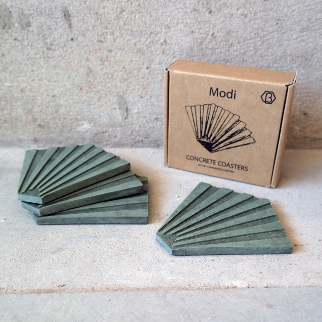 MODI-concrete-coasters-green