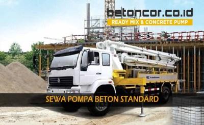 harga sewa pompa beton / concrete pump standard