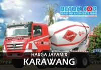 harga beton cor jayamix karawang
