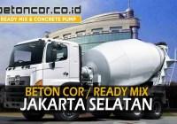harga beton ready mix jakarta selatan