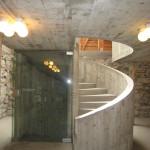Hamar. Nya betongkonstruktioner i logen. Såväl ombyggnader som utställningar är ritade av Sverre Fehn. För de känsliga formarbetena engagerades möbelsnickare. Foto: Anita Stenler