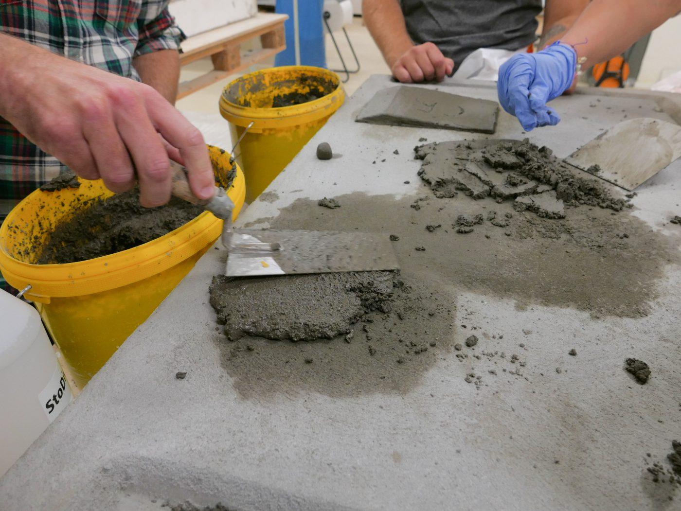 Prova på att gjuta betong