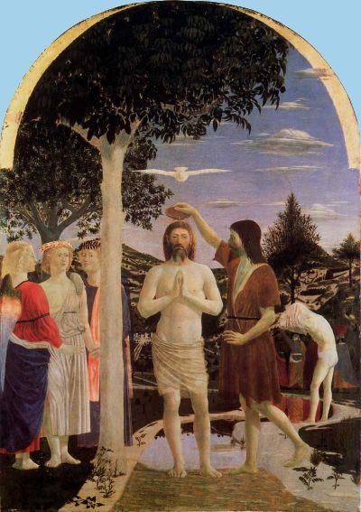 O Batismo. Piero della Francesca