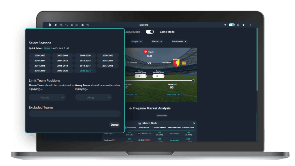 betpractice studio real odds interface betting over strategy