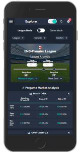 Betpractice Studio Live Odds sample interface web mobile