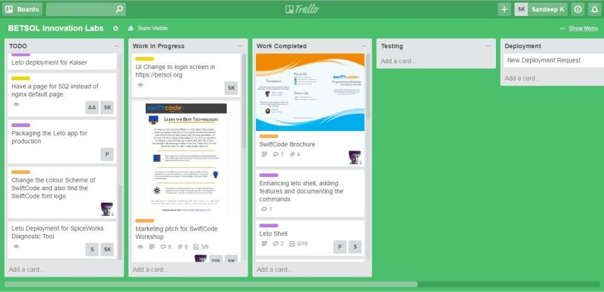 DevOps Trello Board