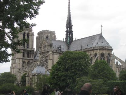 Rear view of Notre Dame.