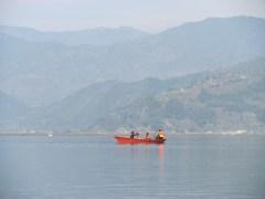 The tranquil Lake Phewa in Pokhara.