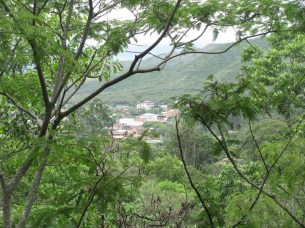 Overlooking Vilcabamba from the reserve.