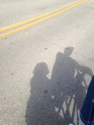 shadow-on-bike