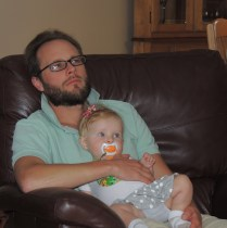 watching baseball with Dad