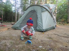 First camping trip in New Hampshire