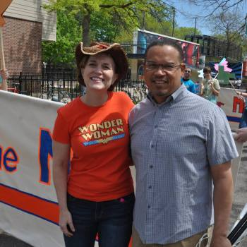 Mayor Betsy Hodges and Keith Ellison