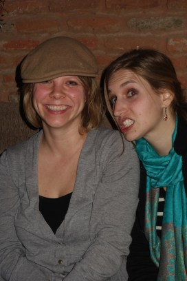 There are oddly an awful lot of pics of Anneke and I like this from various gatherings.