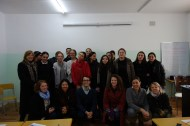 Leadership training for high school students in Chiatura.