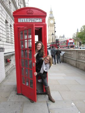Rachel and I taking in the London tourist sites.