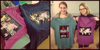 T-shirts for our One Billion Rising event in Kutaisi raising awareness about gender based violence.