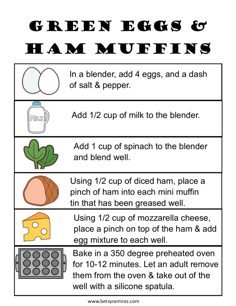 Celebrate Dr. Seuss and Read Across America Day with these healthy and kid friendly Green Eggs and Ham Muffins.