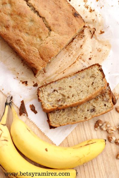 Banana Walnut Bread (Gluten Free / Dairy Free)