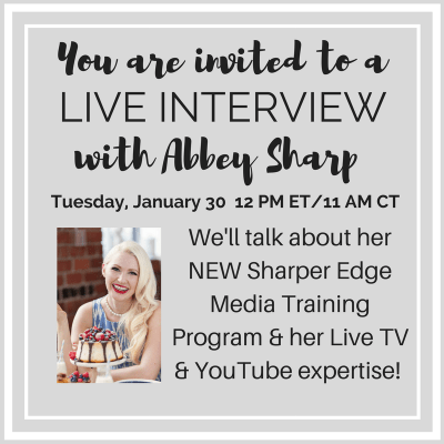 Video Essentials for Dietitians: Live with Abbey Sharp