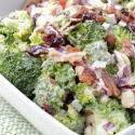 Broccoli Salad with Dried Cranberries and Bacon