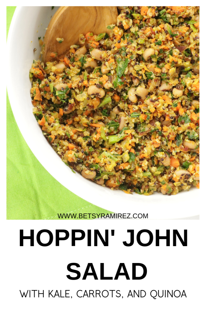 A modern twist on a classic favorite, this Hoppin' John Quinoa Salad is one you will want to make all year long!