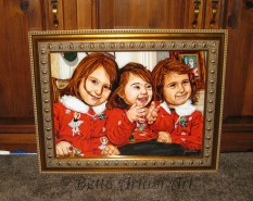 Portrait of three beautiful sisters
