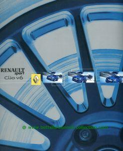 Renault Clio Sport V6 2003-07 Prospekt 001-001h