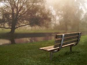 park bench guardian angel