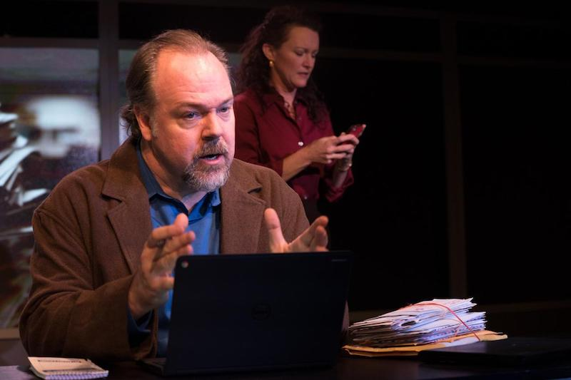 Rob Nagle and Aleisha Force in Human Interest Story at the Fountain Theatre. Photo by Jenny Graham