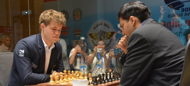 What can be learned from Carlsen and Anand? (Photo by Anastasiya Karlovich, FIDE)