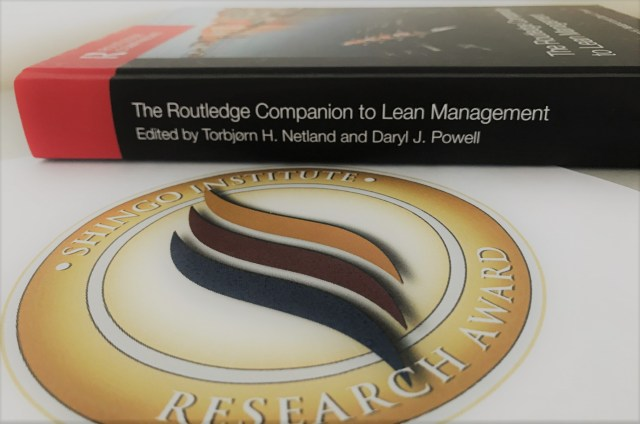 Shingo Research Award for the Routledge Companion to Lean Management,
