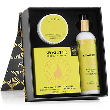 Mother's Day Gifts: Spongelle Gift Set in Coconut Verbena, $40, Spongelle