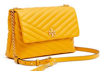Mother's Day Gifts: Kira Chevron Flap Shoulder Bag, $528,Tory Burch