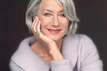 helen mirren gray hair grey