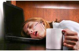 asleep at desk