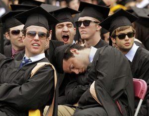 bored at graduation