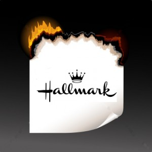 burning hallmark card