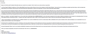 Example of Nigerian Phishing letter