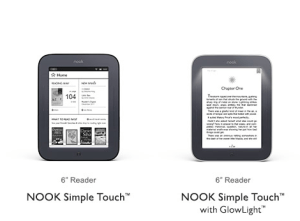 Nook Simple Touch and Glowlight